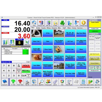 View Control Professional Touch Pos Software